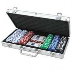 CQ Poker 300 Dice 11.5g Poker Chips in Aluminium Case