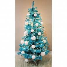Homegear 6ft Blue Artificial Christmas Tree