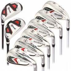 Ram Golf Accubar Mens Clubs 1 Inch Longer Iron Set 6-7-8-9-PW-SW with Hybrids 24° and 27°