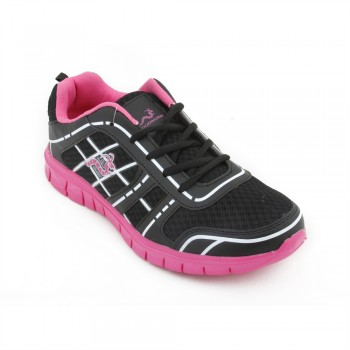 Woodworm FWS Ladies Running Shoes / Trainers - Black