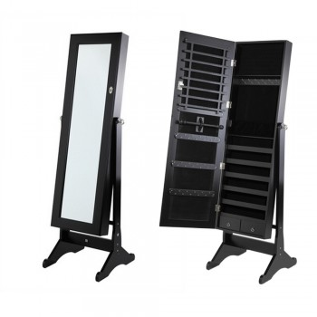 EX-DEMO Homegear Mirrored Jewellery Cabinet with Stand