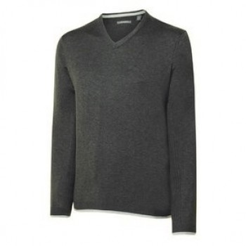 Ashworth Mens Melange Pima V-Neck Sweater