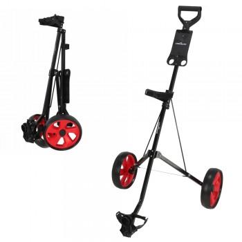 Caddymatic i-Trac 2 Wheel Folding Golf Trolley Black/Red