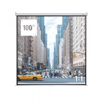 "Homegear 100"" HDTV 1:1 Manual Projector Screen"