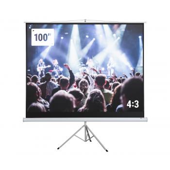 "Homegear 100"" HD 4:3 Tripod Projector Screen"