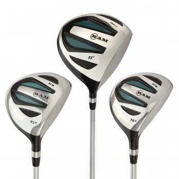 Ram Golf EZ3 Ladies Wood Set inc Driver, 3 Wood and 5 Wood - Headcovers Included - Graphite Shafts