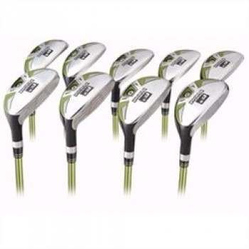 Forgan Series 3 Golf Left Hand Graphite Shaft Hybrid 3-SW Stainless Steel Iron Set