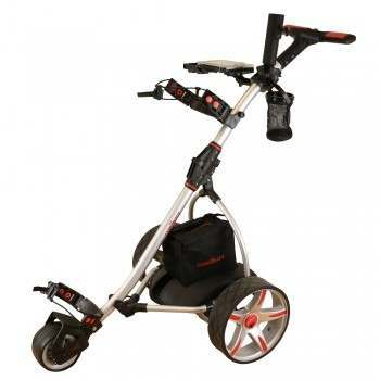 Caddymatic V2 Electric Golf Trolley / Cart with Upgraded 36 Hole Battery With Auto-Distance Functionality - Silver