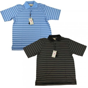 Woodworm Golf Striped Tour Golf Polo Shirt 2 Pack