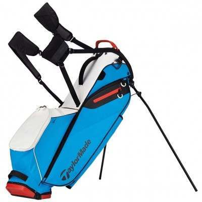 TaylorMade Golf Flextech Stand Bag White/Blue/Red
