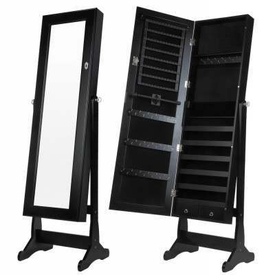Homegear Modern Mirrored Jewellery Cabinet with Stand