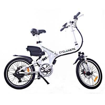 Cyclamatic CX4 Pro Folding Electric Bike-White