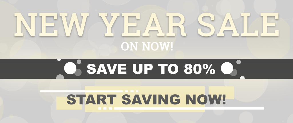 New Year Sale On Now - Save Up To 80%