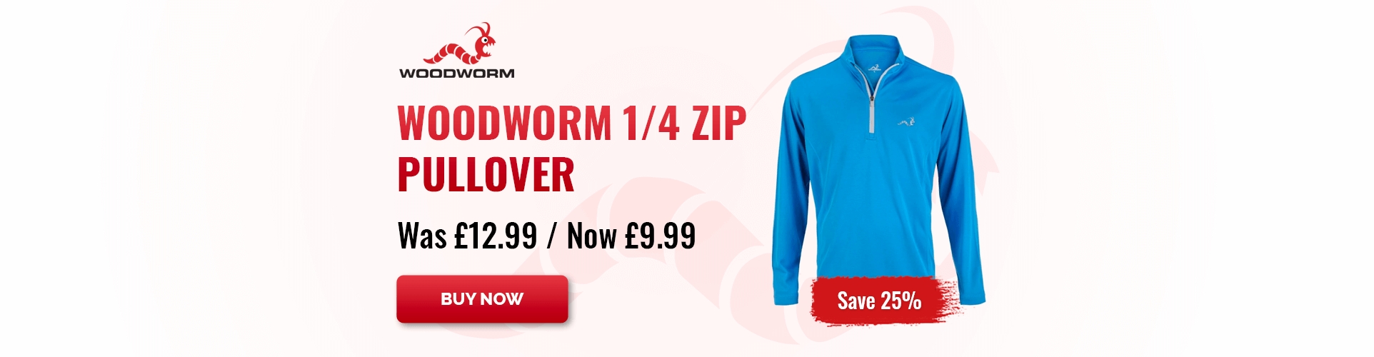 SAVE 25% - Woodworm 1/4 Zip Pullover Just £9.99